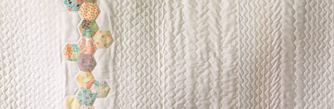 PA208: Modern Candy Twist Hexie Quilt